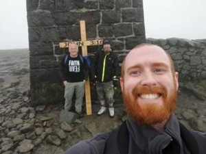 Bill, Ernie and Peter at the top of Donard.
