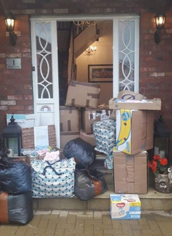 Donations left during Aurelia's second project earlier this year.