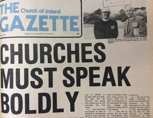 Hope amidst the darkness – the 1970's Church of Ireland Gazette online