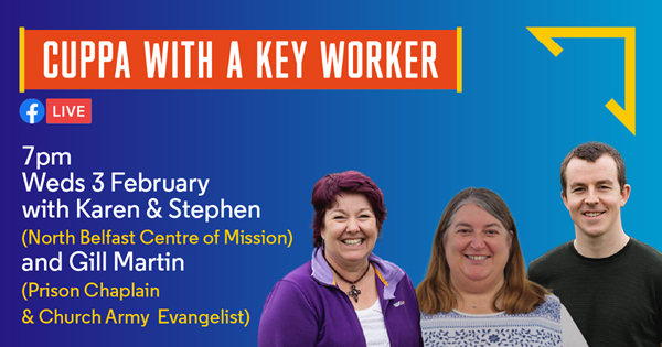Karen and Stephen invite you to 'Cuppa with a Key Worker'