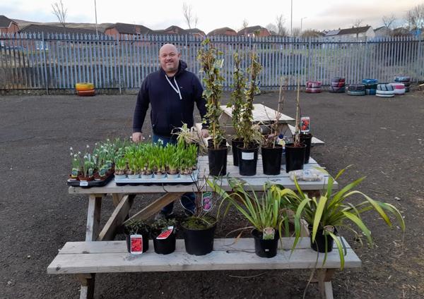 Gift of plants to brighten up Community Garden