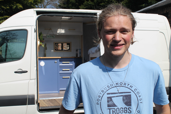 Ben Sweeney designed and fitted out his own unique campervan during lockdown.