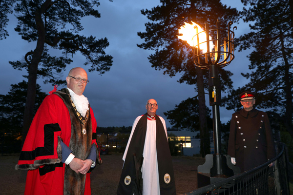 Archdeacon takes part in lighting of centenary beacons