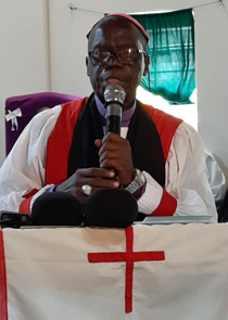 Bishop Hilary, outgoing bishop, thanked Yei's partners, including Connor Diocese, in his address at the consecration of Bishop Levi.