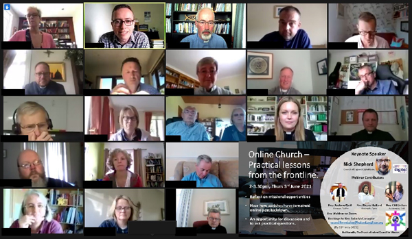 Some of the participants in the Council for Mission webinar.