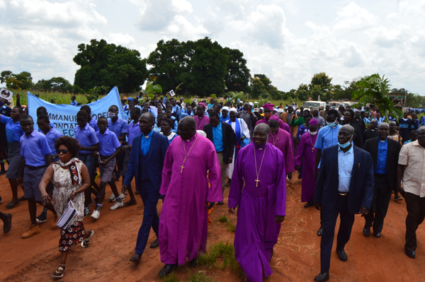 Archbishop Justin visits Yei for the consecration of Bishop Levi.