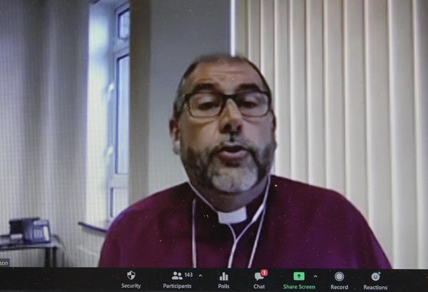 Bishop George delivers Synod presidential address online