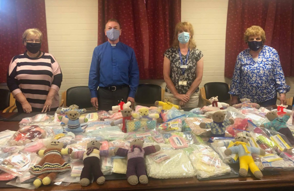 St Paul's, Lisburn, MU presents gifts for hospital patients
