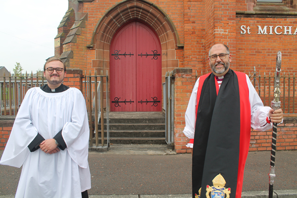 The Bishop of Connor, the Rt Rev George Davison, with the Rev John Lowden, who was ordained Deacon for the parishes of St Michael and St Stephen with St Luke, Belfast on September 5.